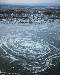 Japan quake, whirlpool