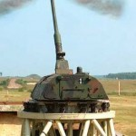 PzH 2000 artillery gun being tested.